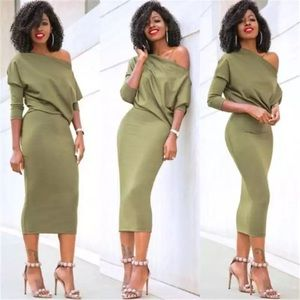 Available! Casual Off the Shoulder Dress Bodycon